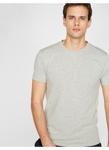 Koton Bisiklet Yaka T-Shirt Gri